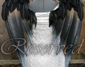 "RESERVED - Huntress - Handmade  Angel Costume Wings - 24""H x 30""W"