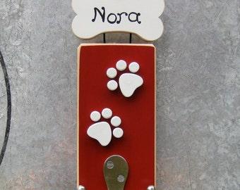 Personalized pet leash hook
