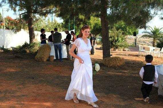 Vintage Lace Wedding Dress Bohemian Wedding Dress Chiffon Wedding Dress Paulastudio Wedding Dress Boho Weddi Simple Wedding Dress
