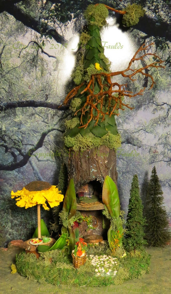 Fairy House Woodland Fairies Sunflower By Woodlandfairyvillage