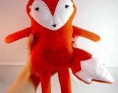 Stuffed Animal Sewing Pattern Fox Soft Toy Fabric Plush PDF