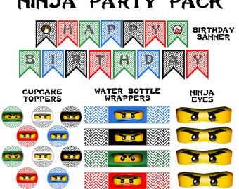 Ninja Party Pack - Ninja Birthday - Ninja - Party Supplies