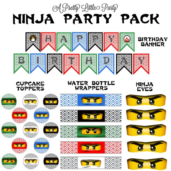 Ninja Party Pack - Ninja Birthday - Ninja - Party Supplies