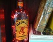 Up-Cycled Fireball Cinnamon Whisky Bottle Lamp