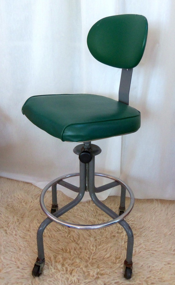 Reserved Vintage Industrial Drafting Stool Machine Age Royal