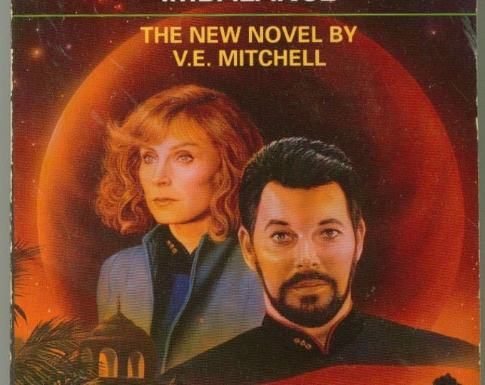 Vintage Paperback Book Star Trek The Next Generation Imbalance No. 22 by V. E. Mitchell 1992 - Jarada - Insectoid - Picard - Enterprise