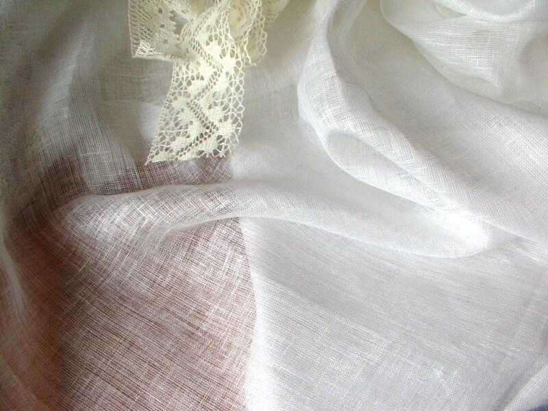 Sheer Gauze Linenwhite Thin Transparent Linen Fabricthin