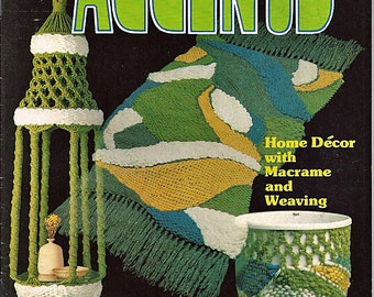 Accents Home Decor with macrame and Weaving  Macrame Pattern Book AC1