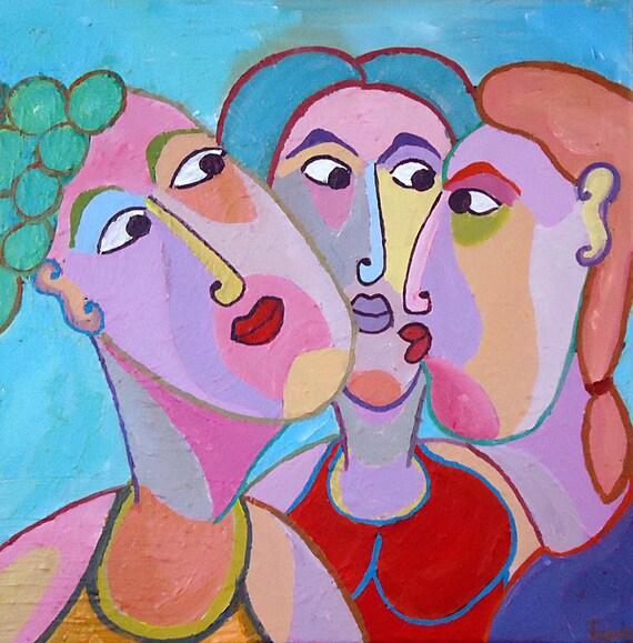 Talking With Painters: Acrylic Painting Women's Talk Three Women Talking