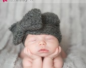 ORIGINAL- The Chloe Hat- Little Girl Hat- Baby Girl Outfit- Vintage Baby- Crochet Bow- Newborn