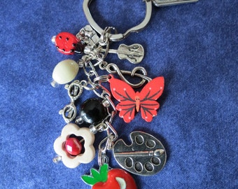 Music & Art Teacher's Beaded keychain, purse charm.