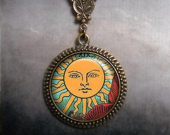 Tarot Sun necklace, sun jewelry, sun jewellery, sun necklace, Tarot necklace, Tarot jewelry