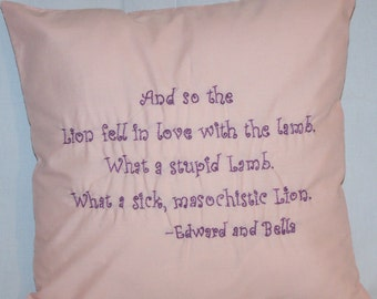 Twilight Inspired, Lion and Lamb, Throw Pillow