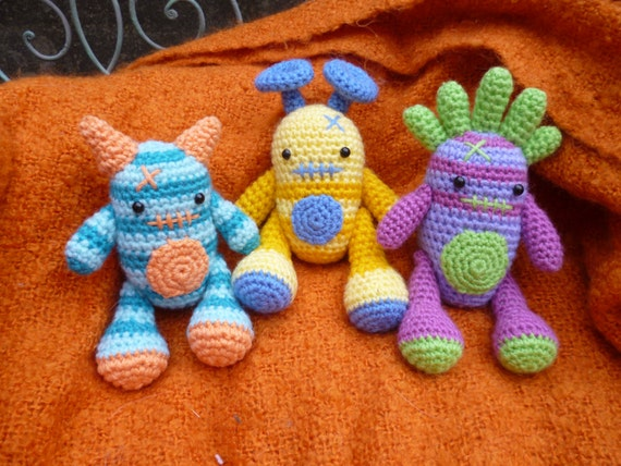 Mini Monsters Amigurumi Crochet Pattern, Harry, Barry and ...