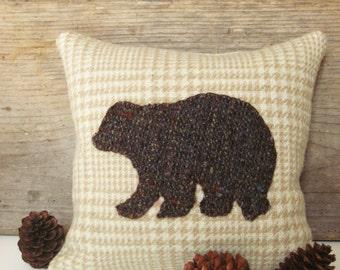 Decorative Balsam Pillow, Brown Bear Pillow, Bear Decor Pillow, Rustic Cabin Pillow, Small Pillow, Woodland Bear Pillow
