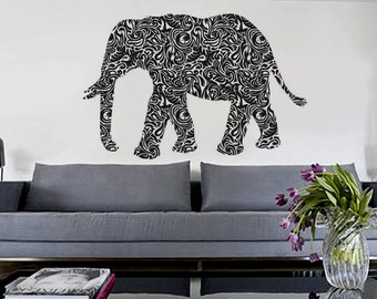 Tribal Elephant - uBer Decals Wall Decal Vinyl Decor Art Sticker Removable Mural Modern A176