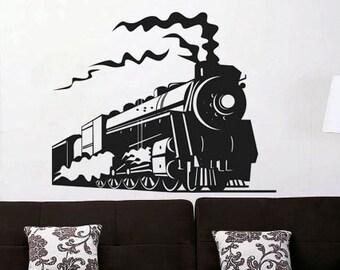 Train 2 - uBer Decals Wall Decal Vinyl Decor Art Sticker Removable Mural Modern A363