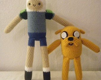 Adventure Time Inspired Finn the Human and Jake the Dog Set
