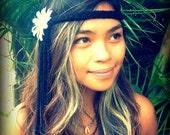 Hippy Headband, Gypsy Halo, Hippie Halloween Costume Hippie Halo,  Flower Headdress, Headpiece, Headband, Electric Daisy, Hippy