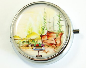 Pill Case, Pill box for purse, Pill Box, Provence, Pill Container, Landscape, Europe, Gift for her, Summer  (2506)