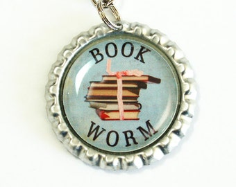 Book Worm Bookmark, bookmark, Book Worm, book mark, Shepherd Hook (2542)