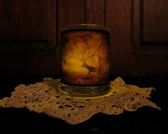 Cave Drawings Candleholder