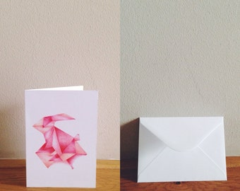 origami bunny etsy. Black Bedroom Furniture Sets. Home Design Ideas