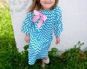 Chevron Pesant Style Dress