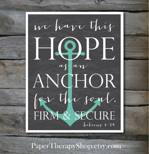 Short Hope Bible Verses Hope as an Anchor Bible Verse