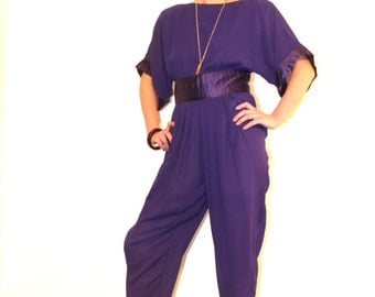 1980s Semi Sheer Jumpsuit