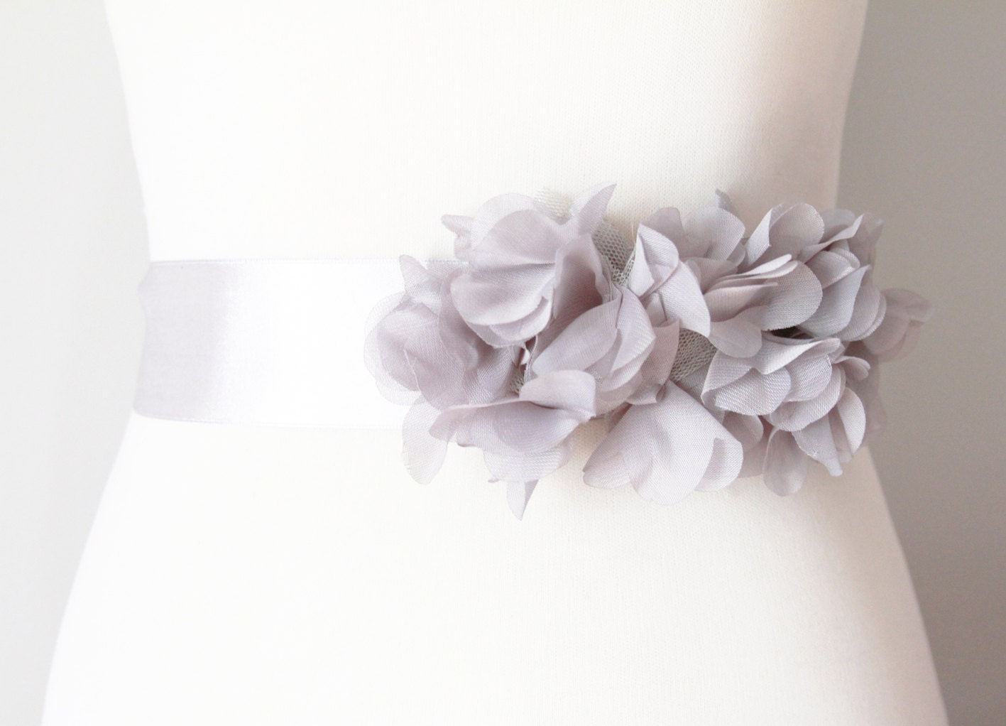 Bridal Flower Sash Ribbon Belt Boho Rustic Wedding Dress