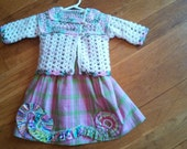 SALE*** Infant OUTFIT by Angel Kisses    3-6 M Plaid Dress with Sweater
