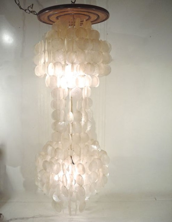 Capiz Shell Chandelier Retro Waterfall Swag Lamp – Capiz Shell Chandelier Lighting