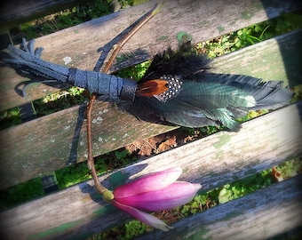 Smudge Fan-Crow-Raven-Pay with PayPal get a free spell in the box! Black 2 Feather Fan-Ceremonial Dance Fan-Cruelty free feathers