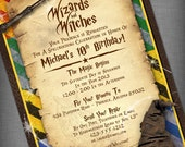 Witches & Wizards Printable Invitation