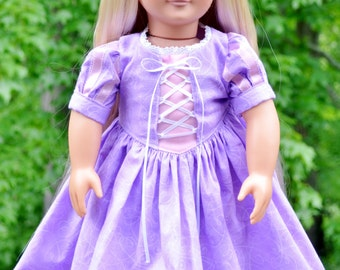 American Girl Rapunzel Dress -New improved design