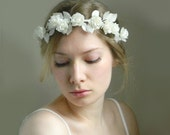 Pixie Forest Headpiece 'Rielle' - White Ivory Bridal - Rustic Weddings