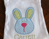 Easter Bunny Appliqué Short or Long Sleeve Onesie or Shirt