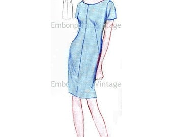 Plus Size (or any size) Vintage 1969 Women's Evening Dress Pattern - PDF - Pattern No 31 Kerry