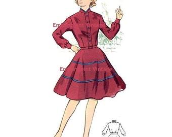 Plus Size (or any size) Vintage 1950s Dress Pattern - PDF - Pattern No 9: Donna