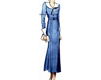 Plus Size (or any size) Vintage 1934 Dress Sewing Pattern - PDF - Pattern No 51 Eula