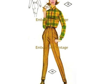 Plus Size (or any size) Vintage 1969 Womens Jodhpurs Pattern - PDF - Pattern No 16 Helen