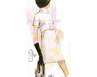 Plus Size (or any size) Vintage 1969 Dress Pattern - PDF - Pattern No 84 Jenny