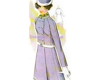 Plus Size (or any size) Vintage 1969 Coat Pattern - PDF - Pattern No 87 Misty