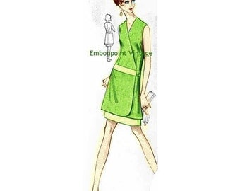 Plus Size (or any size) Vintage 1969 Dress Pattern - PDF - Pattern No 82 Eva