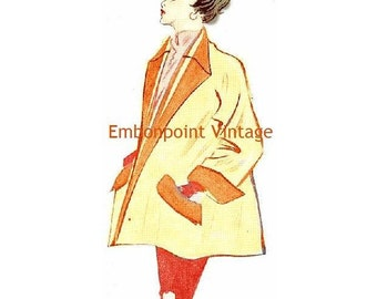 Plus Size (or any size) Vintage 1949 Jacket Sewing Pattern - PDF - Pattern No 16 Dana