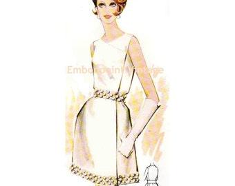 Plus Size (or any size) Vintage 1969 Dress Pattern - PDF - Pattern No 134 Jayne