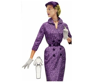Vintage Sewing Pattern 1956 Wiggle Dress PDF Plus Size (or any size)  - Pattern No 30 Colette