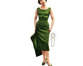 Vintage Sewing Patterns Plus Size (or any size) 1956 Wiggle Dress & Jacket - PDF - Pattern No 36 Rosalyn