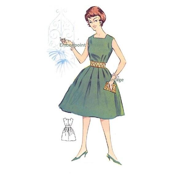 Plus Size (or any size) Vintage 1950s Dress Pattern - PDF - Pattern No 8: Nancy